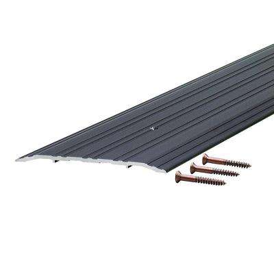 Fluted Saddle 5 in. x 48 in. Bronze Aluminum Commercial Threshold