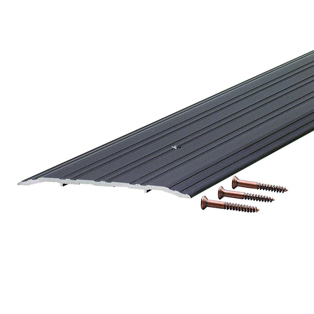 Fluted Saddle 5 in. x 54-1/2 in. Bronze Aluminum Commercial Threshold