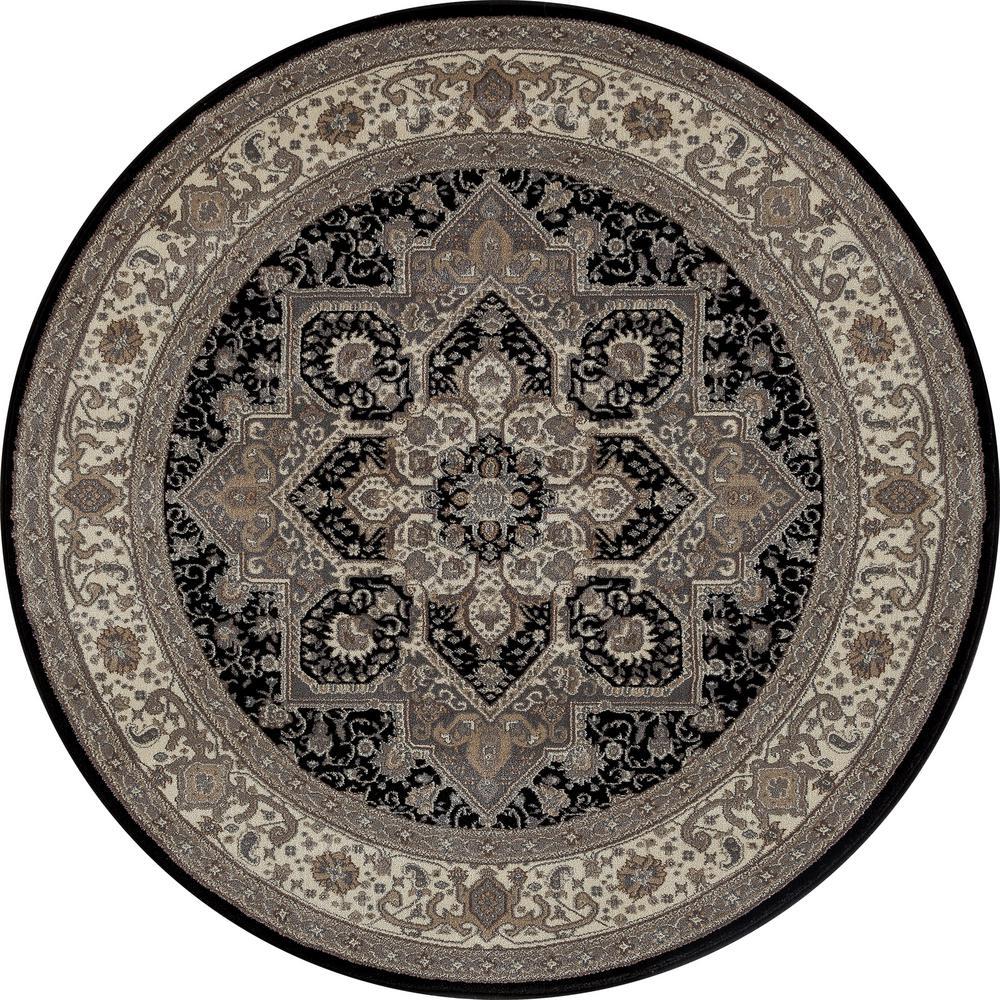Rug Kaleidoscope Runner: Art Carpet Dexter Kaleidoscope Black 8 Ft. X 8 Ft. Round