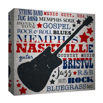 """""""Music City'' By PTM Images Canvas Abstract Wall Art 15 in. x 15 in."""