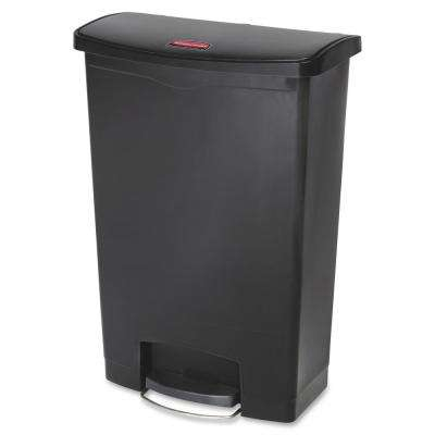 32.5 in. H x 13.9 in. W 24 Gal. Black Front Step Can