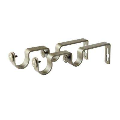 1 in. Double Rod Wall Bracket in Light Gold