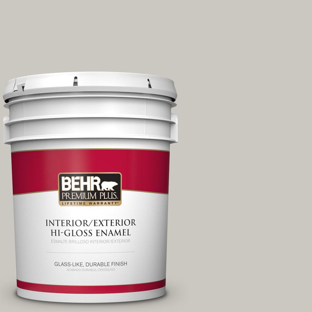 5 gal. #PPU24-12 Whitewash Oak Hi-Gloss Enamel Interior/Exterior Paint