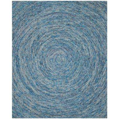 Ikat Dark Blue Multi 9 Ft X 12 Area Rug