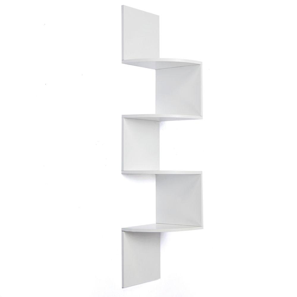 nexxt Provo 4-Tier 12 in. x 57 in. MDF Corner Shelf