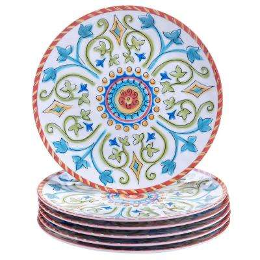Tuscany Salad and Dessert Plate (Set of 6)