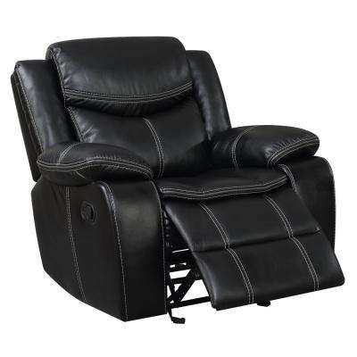 Dentin Black Leatherette Recliner Chair