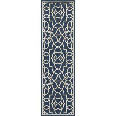 Ballad Navy 2 Ft. 3 In. X 7 Ft. 6 In. Indoor