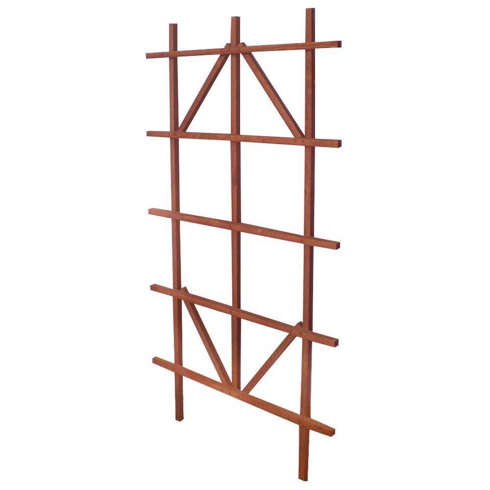 48 in. Brown Ladder Trellis