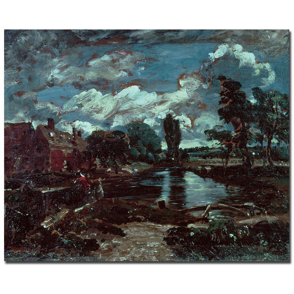 Trademark Fine Art 26 in. x 32 in. Flatford Mill Canvas Art