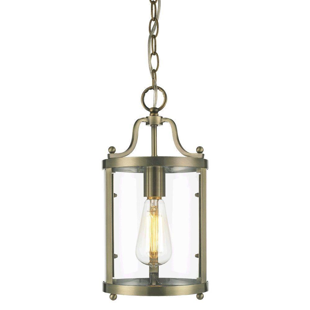 null Payton 1-Light Aged Brass Incandescent Mini Pendant