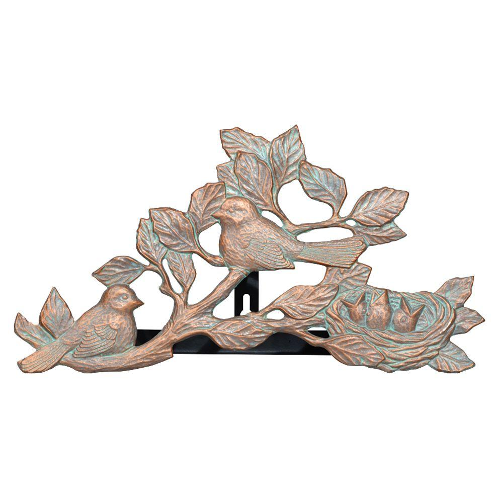 Copper Verdigris Chickadee Hose Holder