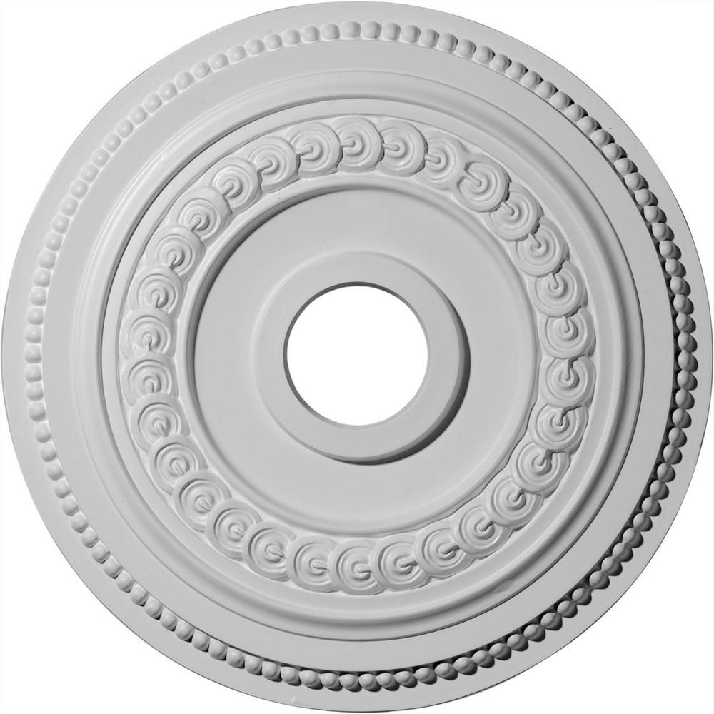 "Ceiling Medallion Square 18 inch Primed White D537 big design decorate home 18/"""