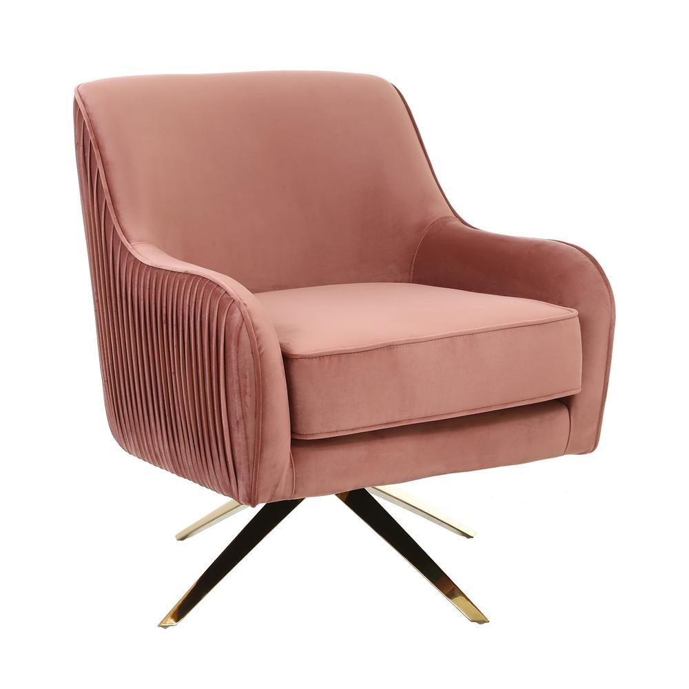 Living Room Electroplated Velvet Armchair