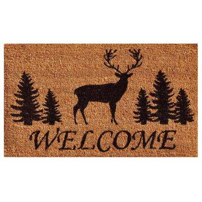 Elk Forest Welcome Door Mat 17 in. x 29 in.