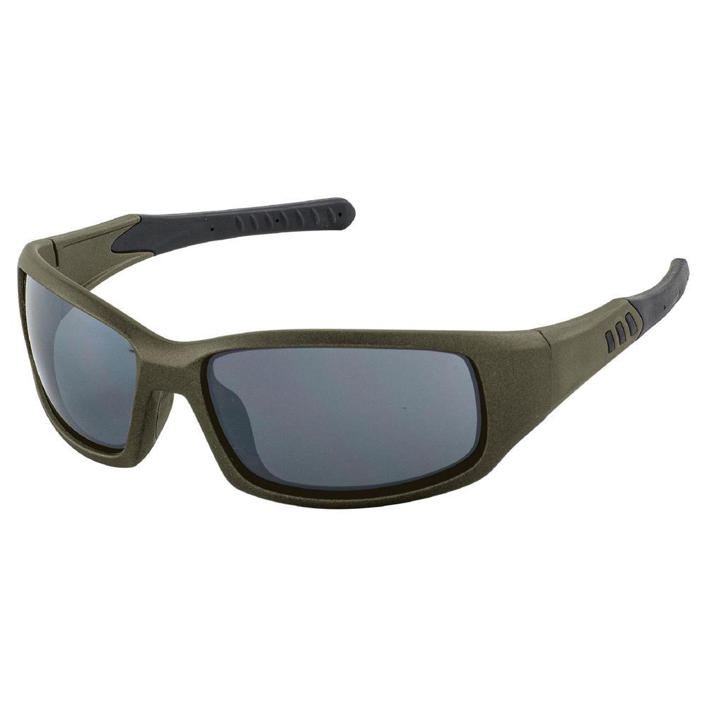 Free Ride Eyewear, Olive Metallic Frame/Gray Flash Mirror Lens