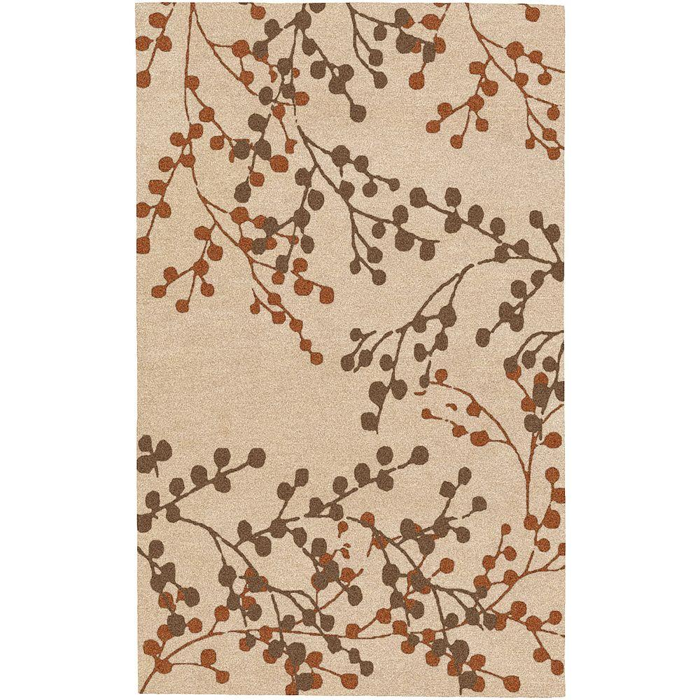 Artistic Weavers Blossoms Beige 3 ft. 6 in. x 5 ft. 6 in. Area Rug
