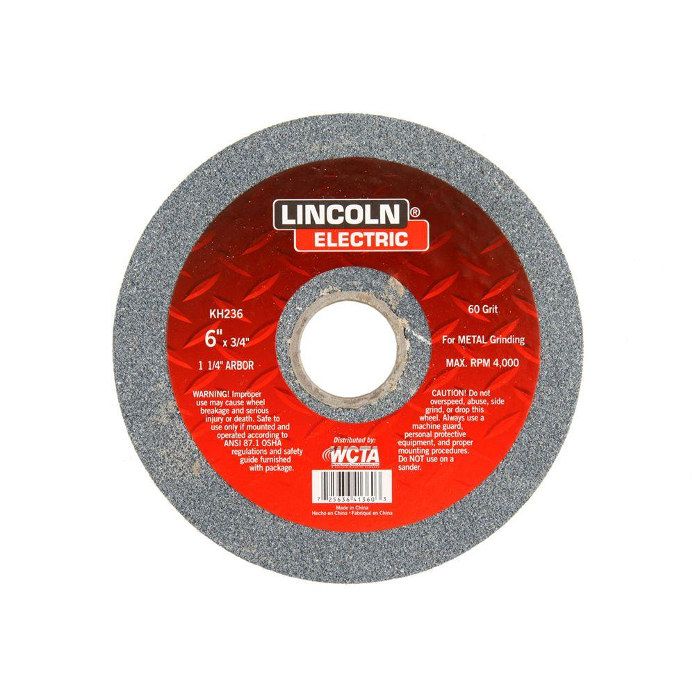 Lincoln Electric 6 In X 3 4 In 36 Grit Bench Grinding Wheel Kh235 The Home Depot