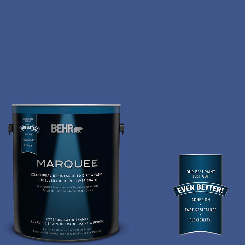 BEHR MARQUEE 1-gal. #PPU15-3 Dark Cobalt Blue Satin Enamel Exterior Paint