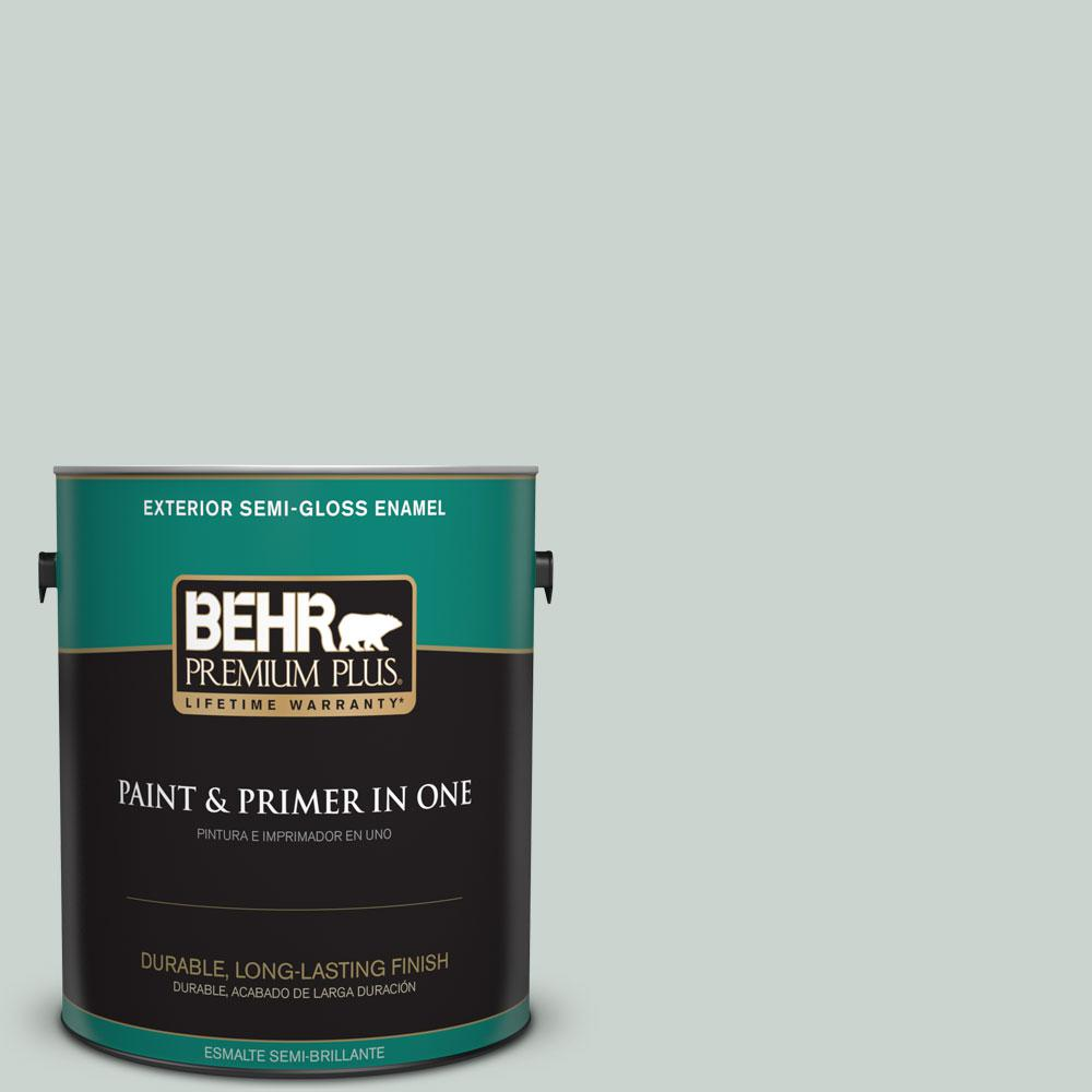 1-gal. #460E-2 Valley Mist Semi-Gloss Enamel Exterior Paint