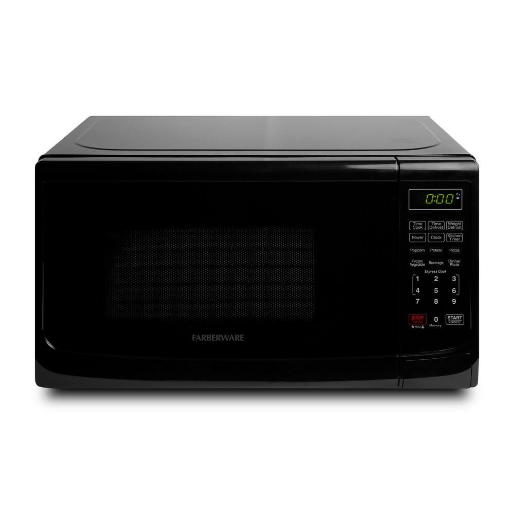 Classic 0.7 cu. ft. 700-Watt Countertop Microwave Oven in Black