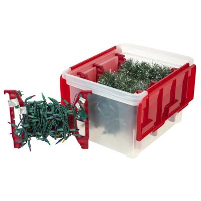 Light Storage Box with 4-Light Wraps in Red (3 per Pack)