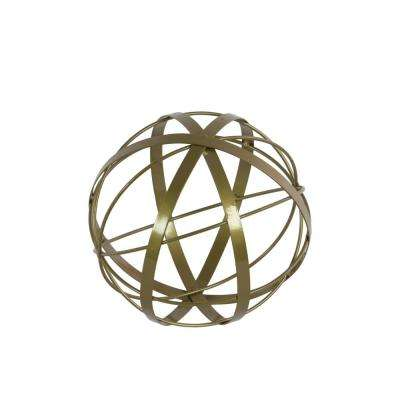 10.00 in. H Sculpture Decorative Sculpture in Gold Coated
