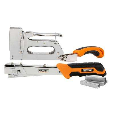 Staple Gun and Hammer Tacker Kit with Staples (3,750-Count)