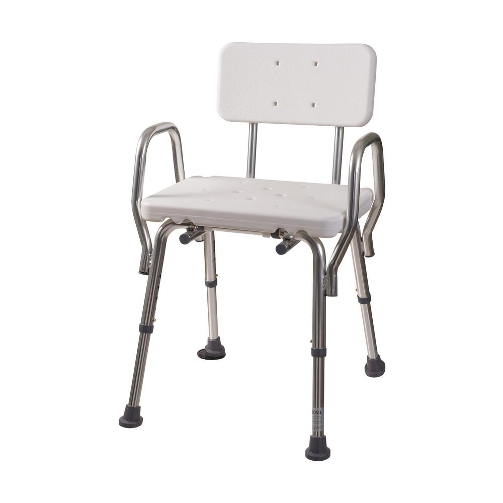 Shower Chair with Backrest-522-1733-1900 - The Home Depot