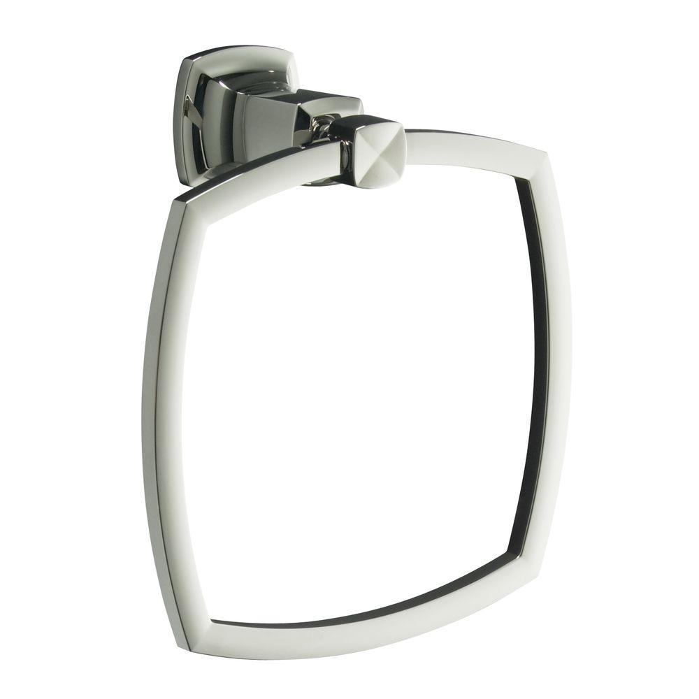 KOHLER Margaux Towel Ring in Vibrant Polished Nickel