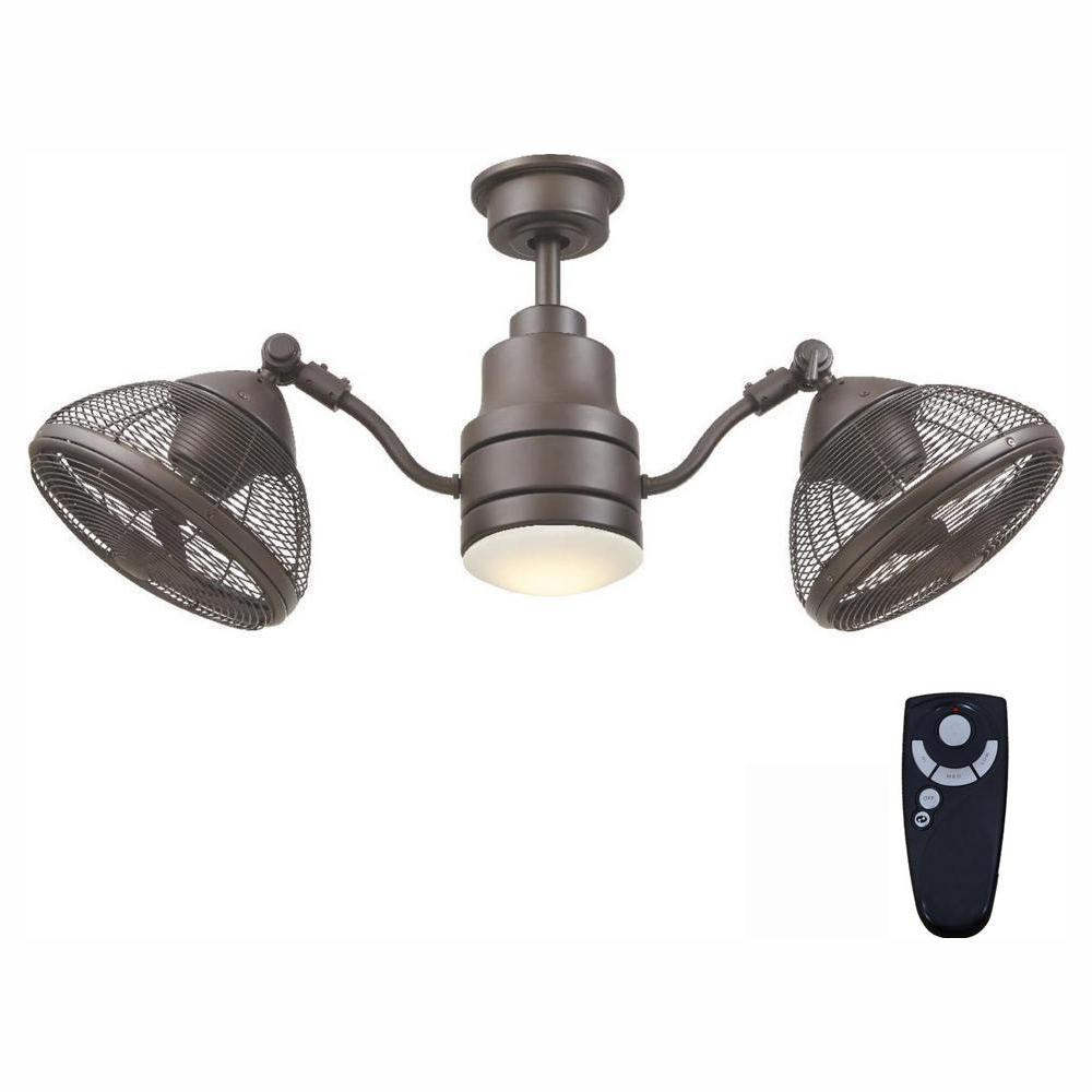 Home Decorators Collection Pendersen 42 in. Integrated LED Indoor/Outdoor Espresso Bronze Ceiling Fan with Light Kit and Remote Control
