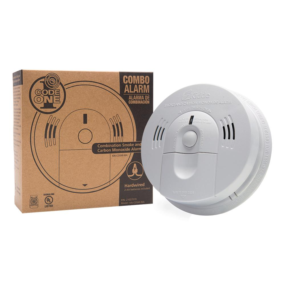 Kidde 21026043 Battery-Operated 2 Pack Not Hardwired Combination Smoke//Carbon Monoxide Alarm with Voice Warning KN-COSM-BA