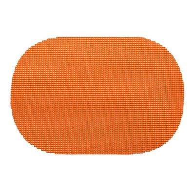 Fishnet Oval Placemat in Spice Orange (Set of 12)