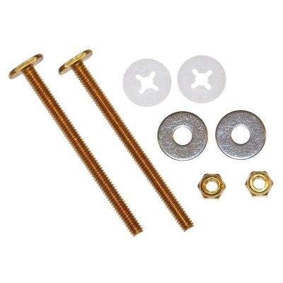 1/4 in. x 3-1/2 in. Brass Closet Bolt Kit