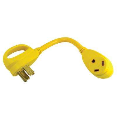 15 Amp 125-Volt 3-Prong Male Plug to 30 Amp 125-Volt RV Female Straight-Blade Adapter