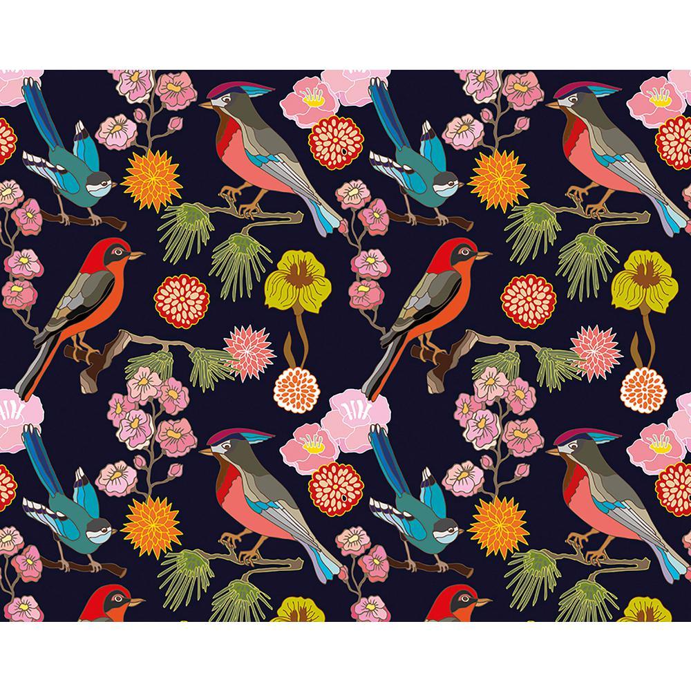 Floral Birds Wall Mural