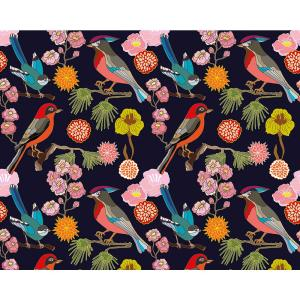 Floral Birds Wall Mural