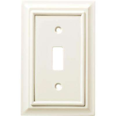 Architectural Wood Decorative Single Switch Plate, White (2-Pack)