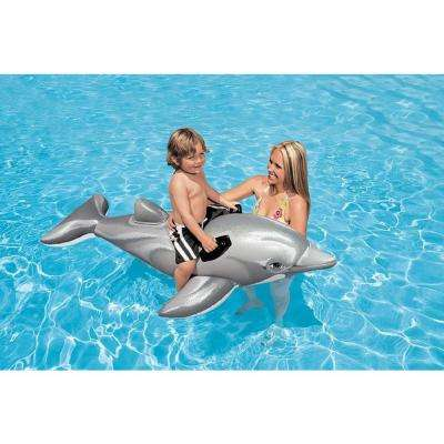 Dolphin Ride-On Pool Inflatable