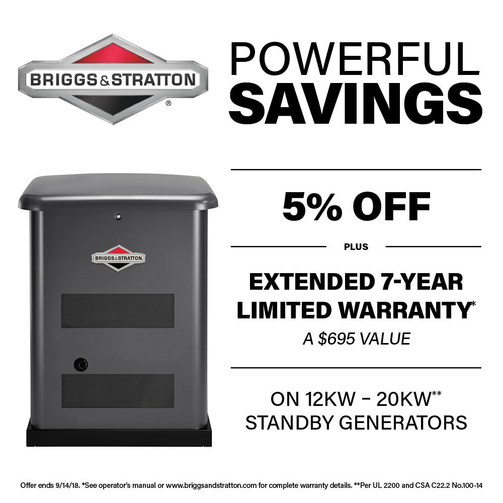briggs stratton 12 000 watt automatic air cooled standby generator rh homedepot com briggs and stratton 20kw generator service manual briggs and stratton 20kw generator parts