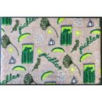 Whimsy Canning Pickles 20 in. x 30 in. Nylon Doormat