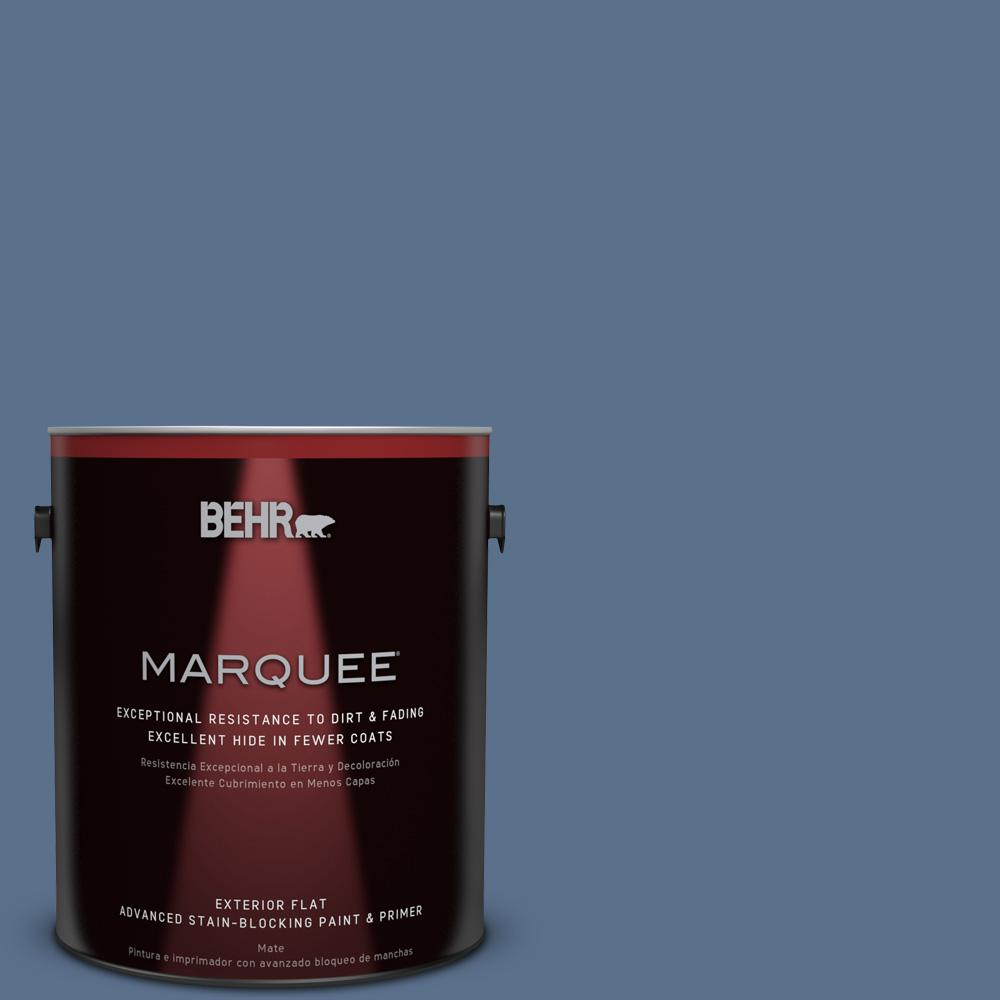 1-gal. #600F-6 Atlantic Blue Flat Exterior Paint