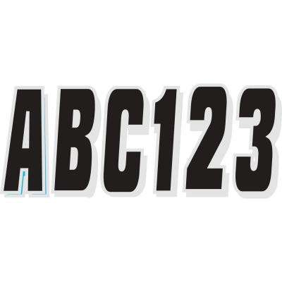 Series 320 Registration Kit Solid Color Block Font with Drop Shadow, Black and Silver