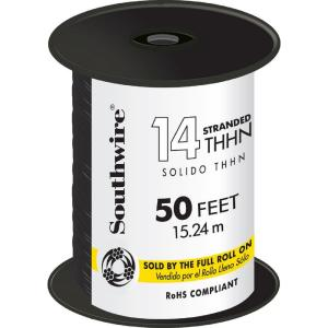 50 ft. 14 Black Stranded CU THHN Wire