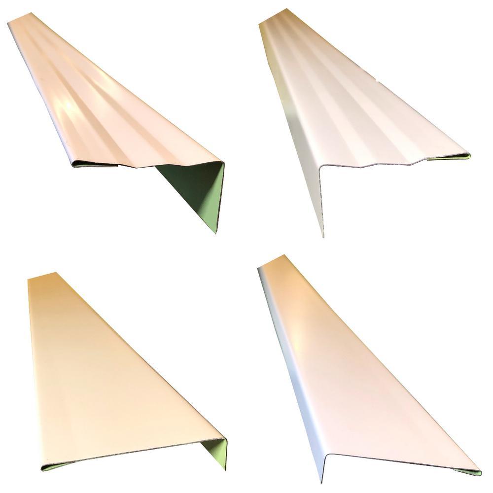 2.5 in. x 2.25 in. x 85 in. Complete Aluminum Metal Brickmold and Jamb Door Trim Cover Kit - 72 in. Door w/Brick, White