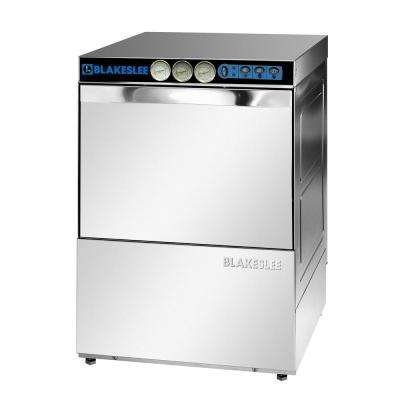 Front Control High Temperature Commercial Glasswasher in Stainless Steel