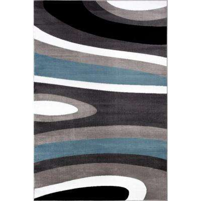 Art Deco Polypropylene Blue Area Rugs Rugs The Home Depot