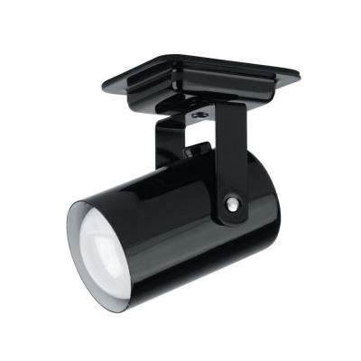 Designer Collection 1-Light 4 in. Black Track Head with Black Metal Shade