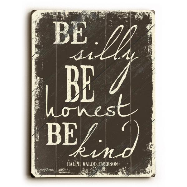 ArteHouse 12 in. x 16 in. ''Be Silly by Misty Diller