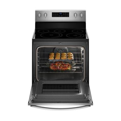 5.3 cu. ft. Electric Range with Self-Cleaning Convection Oven in Fingerprint Resistant Stainless Steel